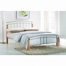 silver metal beech post bed frame single 3ft free