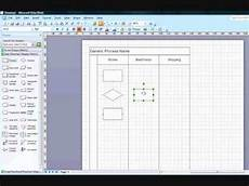 Dcp Flow Chart Creating Cross Functional Flow Chart In Visio 2007 Youtube