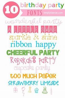 Fun Fonts 10 Fun Birthday Fonts Fancy Fonts Creative Fonts Cute
