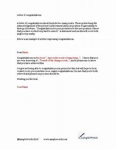 Congratulations Email Template Congratulations Letter Template Download And Edit Word