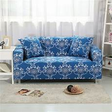 polyester bohemian style blue sofa covers for living