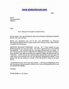 Transfer Letter Sample Application Letter For Transfer Of Job Location