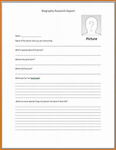 Biography Template Word 4 Bio Template Word Authorizationletters Org