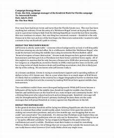 Strategy Memo Example 10 Strategy Memos Sample Word Google Docs Format Download