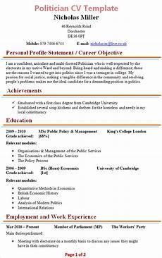 Political Resume Examples Politician Cv Template