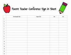 Parent Conference Sign In Sheet Parent Teacher Conference Sign In Sheet By Tech Nically Pe