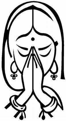 namaste clipart image result for black and white indian namaste