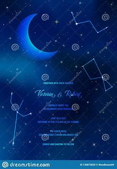 Celestial Template Night Sky Trendy Wedding Invitation Card Save The Date