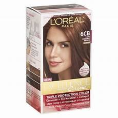 Loreal Light Chestnut Brown L Oreal Paris Excellence Triple Protection Permanent Hair