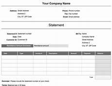 Billing Statement Sample Billing Statement Simple