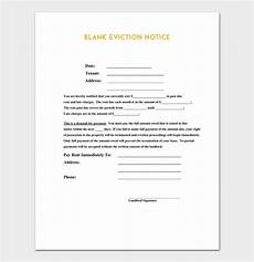 Notice Templates Eviction Notice Template 5 Blank Notices For Word Pdf