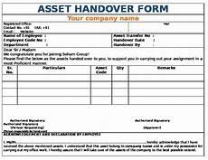 Handover Form Download Pdf Company Asset Handover Form 6nq8ywv2g2nw