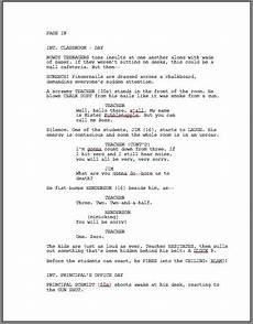 Sample Screenplay How To Format A Screenplay Learning The Screenwriting Formula