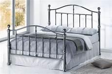 4ft6 viceroy black nickel bed frame bed frame king size