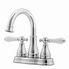 Lowes Kitchen Sink Faucets Pfister Sonterra Polished Chrome 2 Handle 4 In Centerset