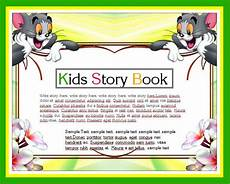 childrens story template kids story writing book template word amp excel templates