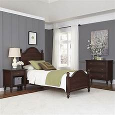 home styles country comfort bed stand and chest