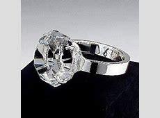 """The Rock"" Crystal Diamond Engagement Wedding Ring Desk"