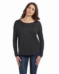 womens sleeve tops boys canvas 8852 flowy sleeve t shirt with