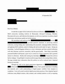 Archivist Cover Letters Archivist User Services Librarian Cover Letter Open