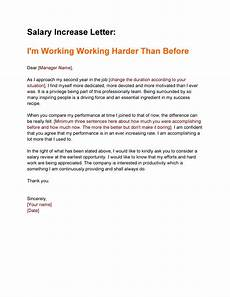 Salary Increase Letter Example 50 Best Salary Increase Letters How To Ask For A Raise