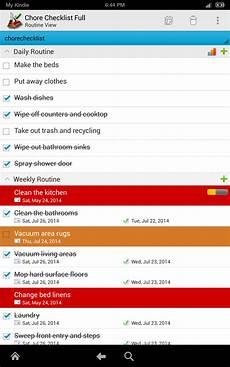 Chore Checklist App Amazon Com Chore Checklist Appstore For Android
