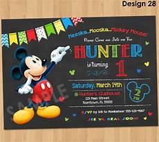 Custom Mickey Mouse Invitations Mickey Mouse Birthday Invitation Mickey Mouse Clubhouse