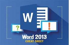 Microsoft Word Free 2013 Word 2013 Cheat Sheet Computerworld
