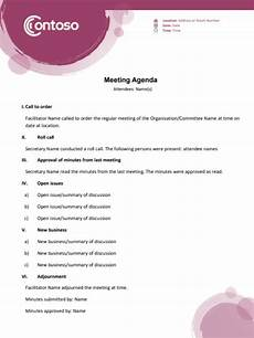 Meeting Agendas How To Write A Meeting Agenda For Conference Calls