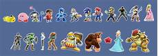 Super Smash Bros Character Chart Check Out This Comparison Between Super Smash Bros And