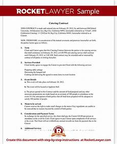 Catering Contracts Samples Catering Contract Catering Contract Template With Sample