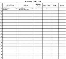 Wedding Guest List Spread Sheet 15 Best Images Of Wedding Guest List Worksheets
