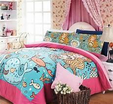mermaid bedding print comforter sheets beding set