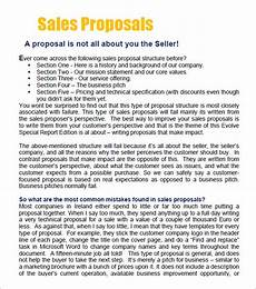 Business For Sale Proposal Template 20 Sample Sales Proposal Templates Pdf Word Psd