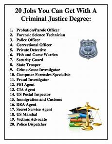 How Do Degrees Work 20 Jobs You Can Get With A Criminal Justice Degree