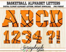 Basketball Font Sports Basketball Letters Amp Numbers Clipart 40 High