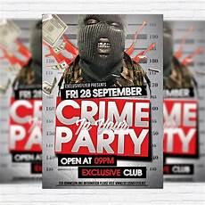 Crime Poster Design Crime Party Premium Flyer Template Facebook Cover
