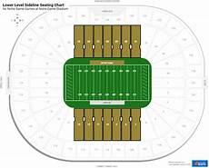Notre Dame Stadium Seating Chart View Lower Level Sideline Notre Dame Stadium Football Seating