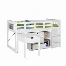 corliving single loft bed with desk and