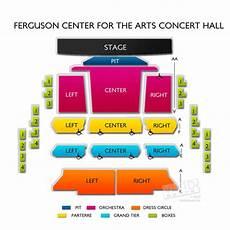 Straz Ferguson Seating Chart Ferguson Center For The Arts Concert Hall Seating Chart