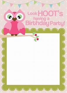 Birthday Invitation Card Maker Free Printable Owl Birthday Party With Free Printables How To Nest For