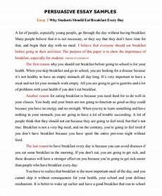 Persuasive Writing Essay Example Persuasive Speech Example Samples In Pdf Word