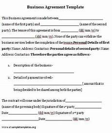 Business Contracts Samples Agreements Sample Agreements Contract Template