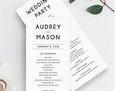 Program Template For Wedding Wedding Program Template Printable Wedding Program