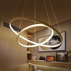 Circular Led Light Circular Ring Pendant Lights 3 2 1 Circle Rings Acrylic