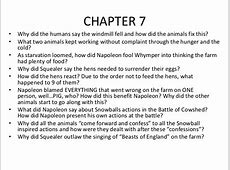 animal farm summary chapter 7