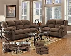aruba chocolate modern reclining sofa loveseat set w options