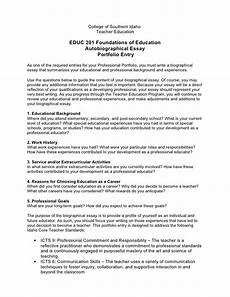 Example Autobiography Essay Autobiographical Essay