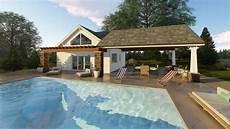 pool house plan teton