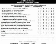 Employee Satisfaction Survey Example Employee Satisfaction Survey Example The Thriving Small